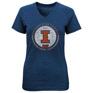 Girls 4-6x Illinois Fighting Illini Medallion Tee