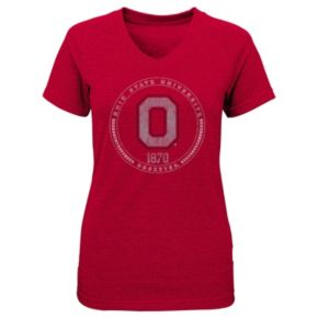 Girls 4-6x Ohio State Buckeyes Medallion Tee