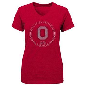 Girls 4-6x Ohio State Buckeyes Medallion Tee