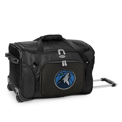 Denco Minnesota Timberwolves 22-Inch Wheeled Duffel Bag