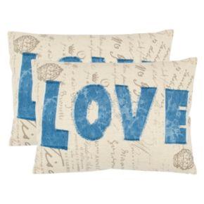 Safavieh 2-piece Amore Throw Pillow Set