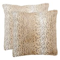 Safavieh 2 pc Faux Snow Leopard Throw Pillow Set