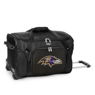 Denco Baltimore Ravens 22-Inch Wheeled Duffel Bag