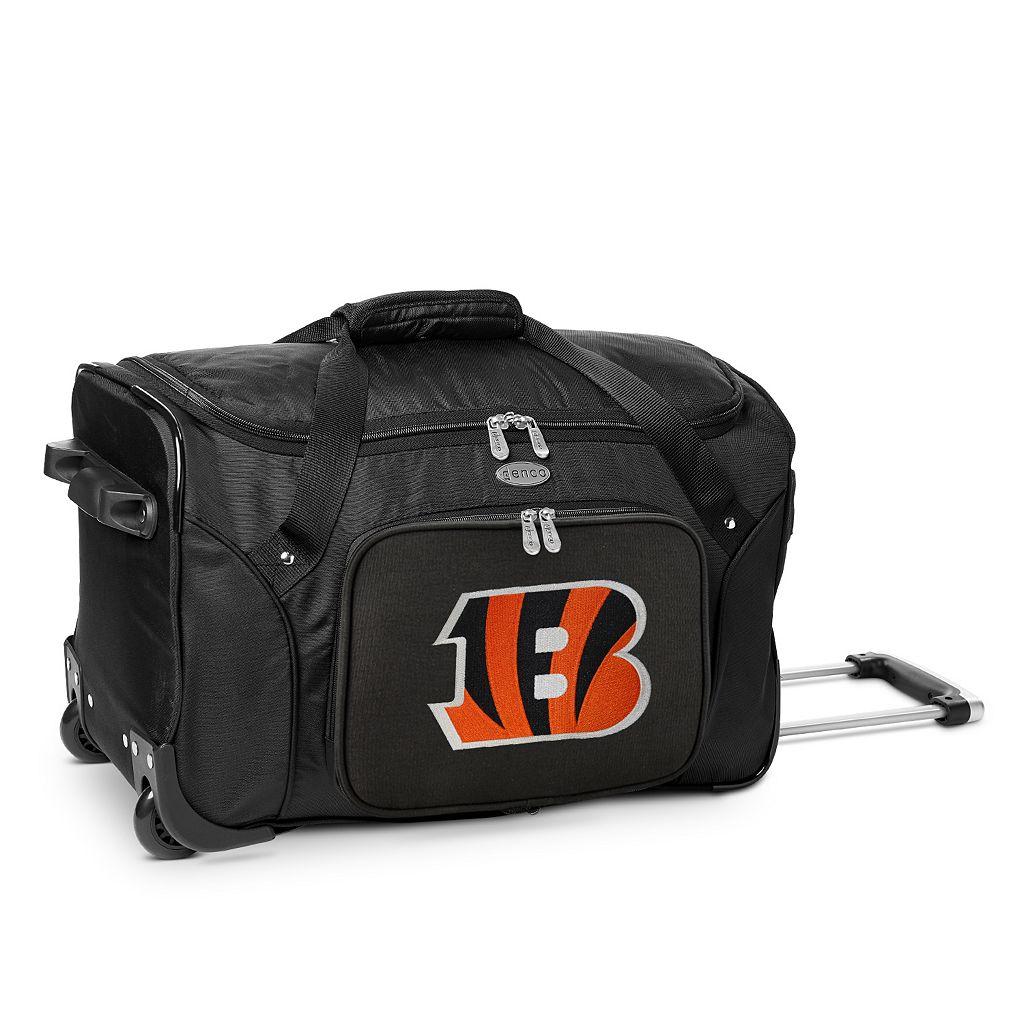 Denco Cincinnati Bengals 22-Inch Wheeled Duffel Bag