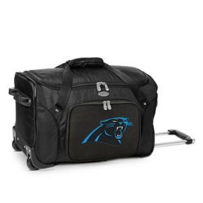 Denco Carolina Panthers 22-Inch Wheeled Duffel Bag
