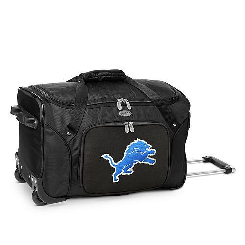 Denco Detroit Lions 22-Inch Wheeled Duffel Bag