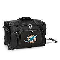 Denco Miami Dolphins 22-Inch Wheeled Duffel Bag