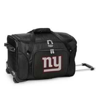 Denco New York Giants 22-Inch Wheeled Duffel Bag
