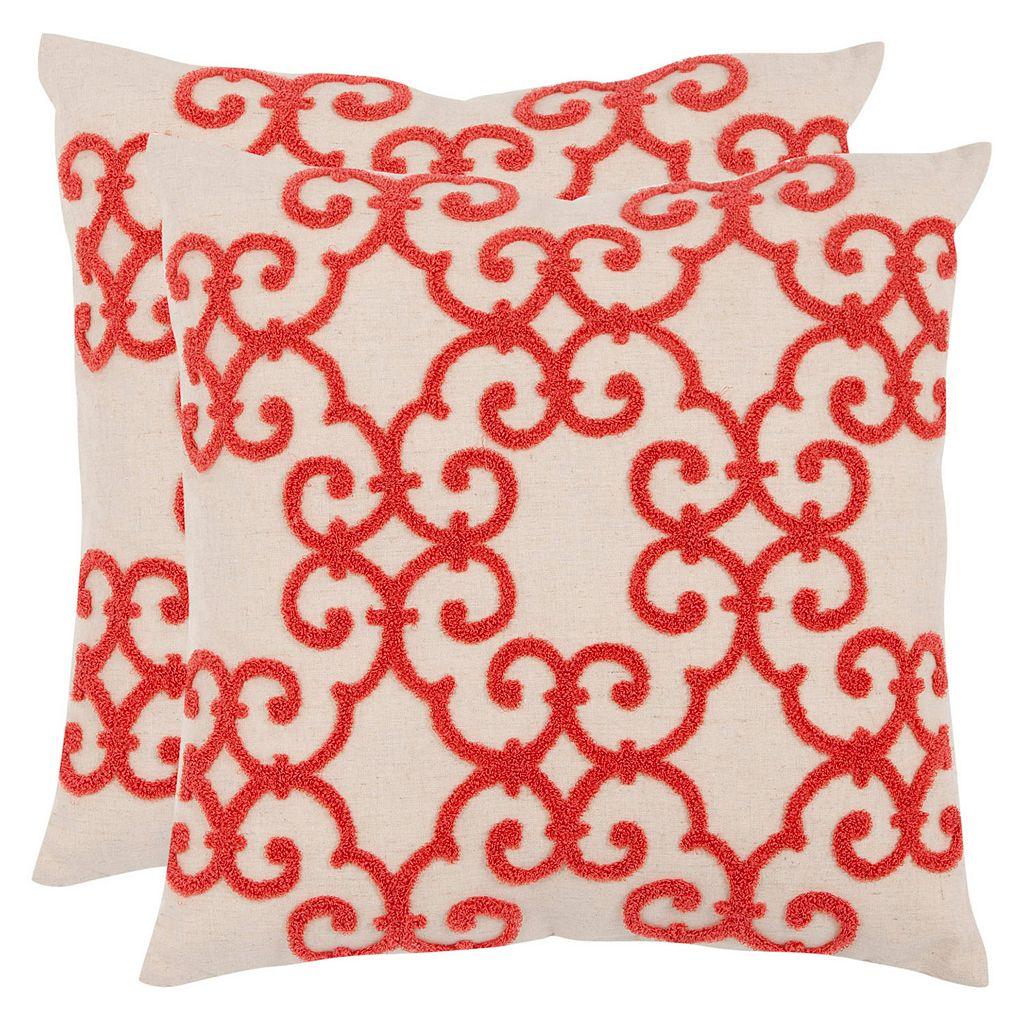 Safavieh 2-piece Sonya Throw Pillow Set