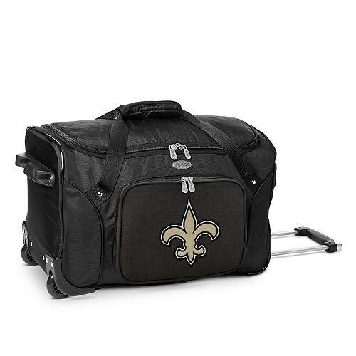 Denco New Orleans Saints 22-Inch Wheeled Duffel Bag