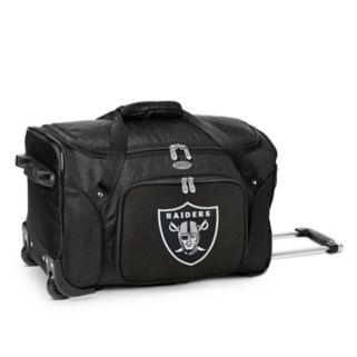 Denco Oakland Raiders 22-Inch Wheeled Duffel Bag