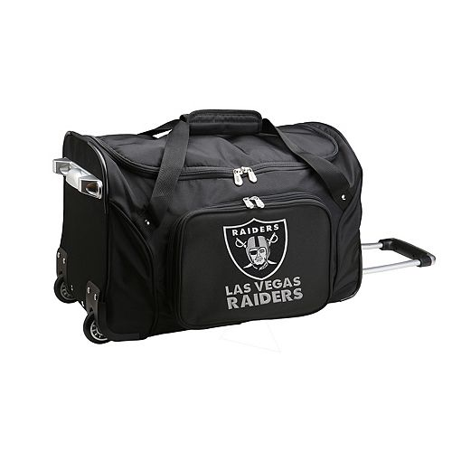 Denco Oakland Raiders 22-Inch Wheeled Duffel Bag