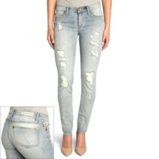 Women's Rock & Republic® Berlin Destructed Skinny Jeans