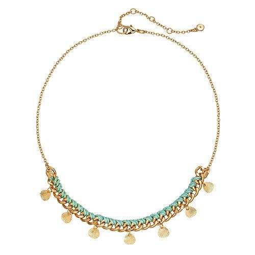 LC Lauren Conrad Seashell Charm Necklace