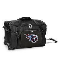 Denco Tennessee Titans 22-Inch Wheeled Duffel Bag