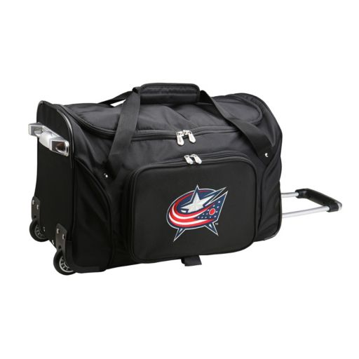 Denco Columbus Blue Jackets 22-Inch Wheeled Duffel Bag