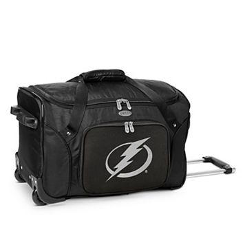 Denco Tampa Bay Lightning 22-Inch Wheeled Duffel Bag