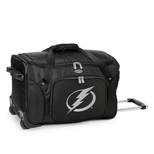 Denco Tampa Bay Lightning 22-Inch Wheeled Duffel Bag