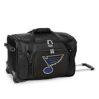 Denco St. Louis Blues 22-Inch Wheeled Duffel Bag