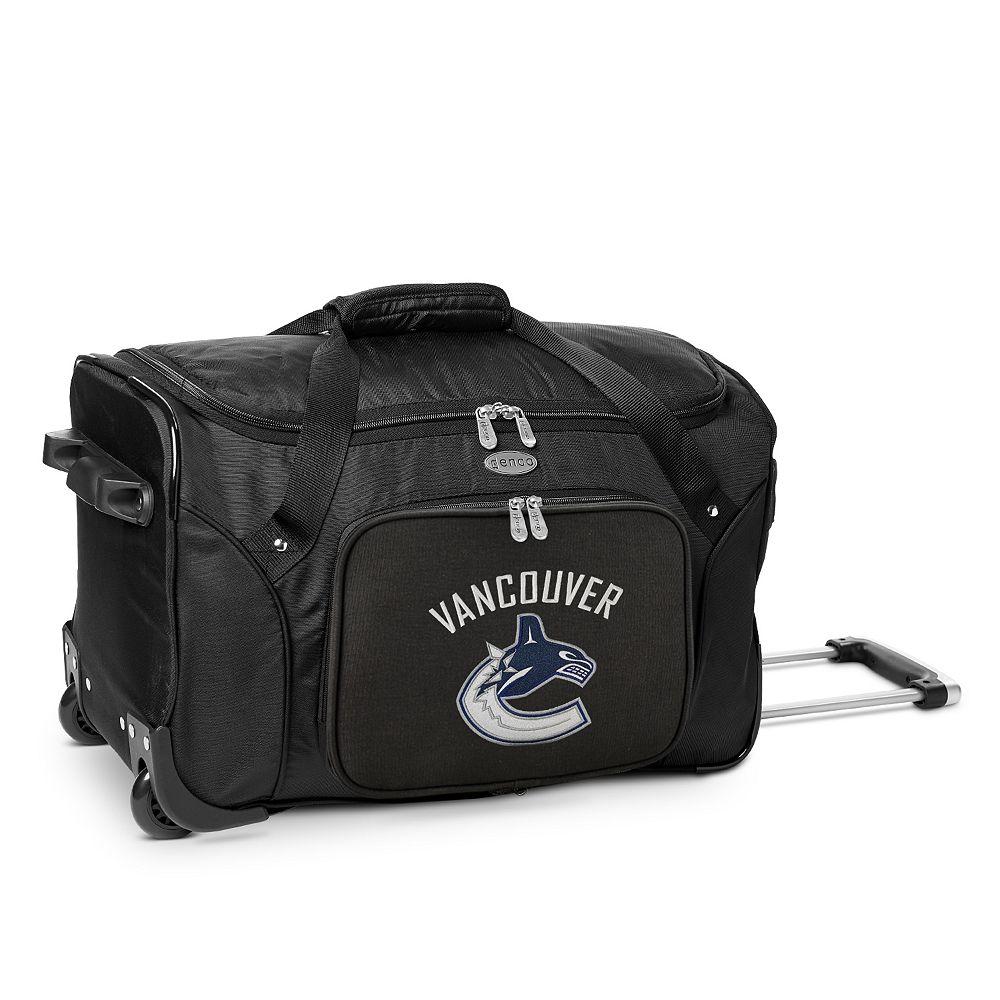 Denco Vancouver Canucks 22-Inch Wheeled Duffel Bag