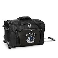 Denco Vancouver Canucks 22-Inch Wheeled Duffel Bag