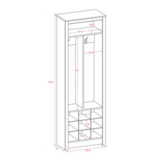Prepac Space-Saving Entryway Shoe Storage Unit
