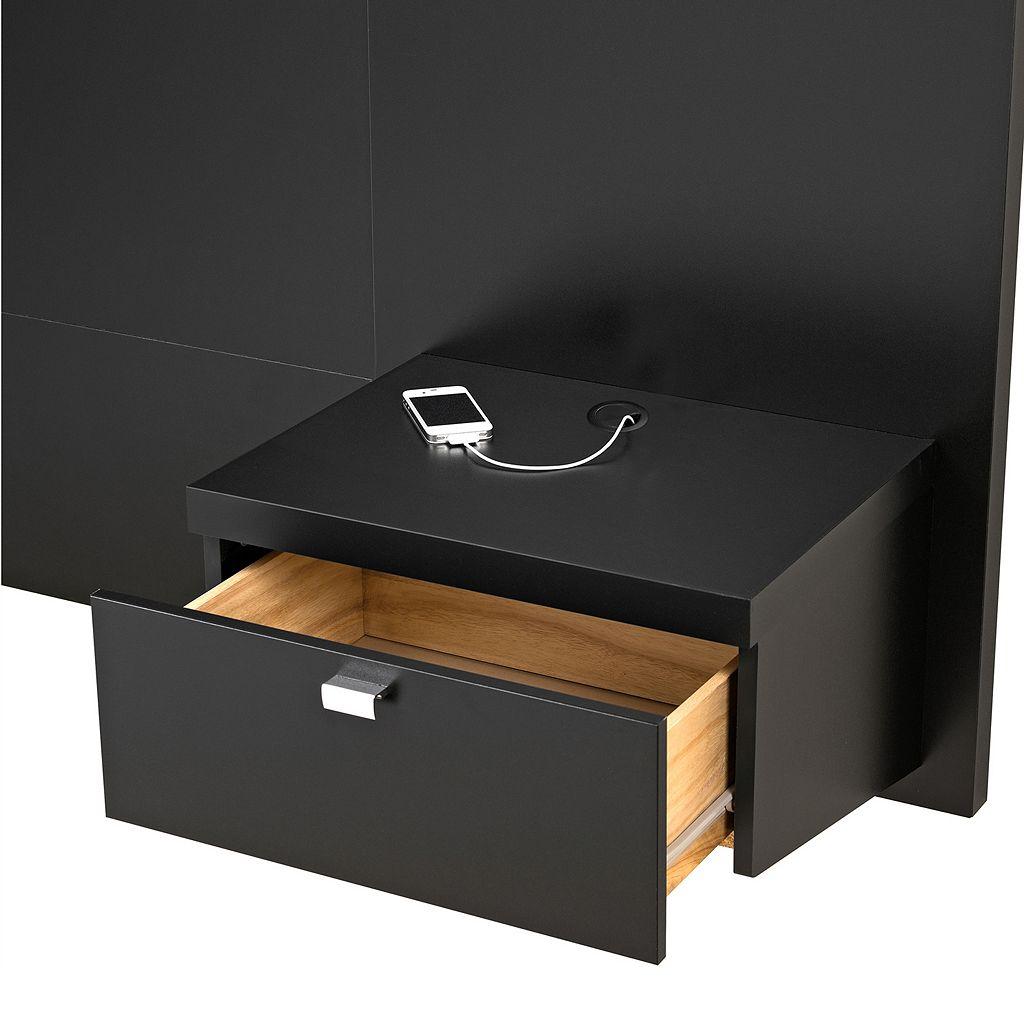 Prepac Series 9 Designer Floating Headboard and Nightstands