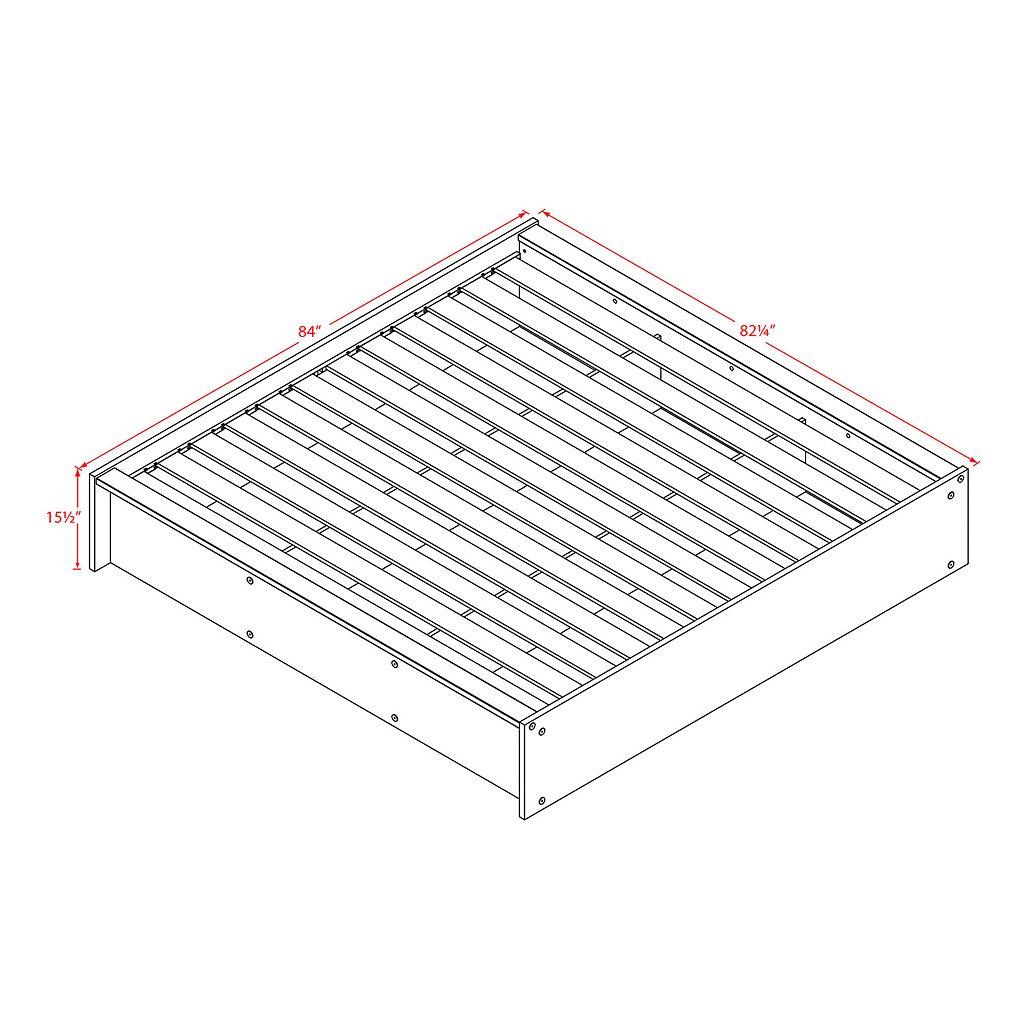 Prepac District Queen Platform Bed