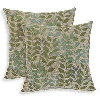 Fabian 2-piece Chenille Leaf Throw Pillow Set