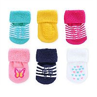 Baby Carter's 6 pkFrench Terry Socks