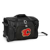 Denco Calgary Flames 22-Inch Wheeled Duffel Bag