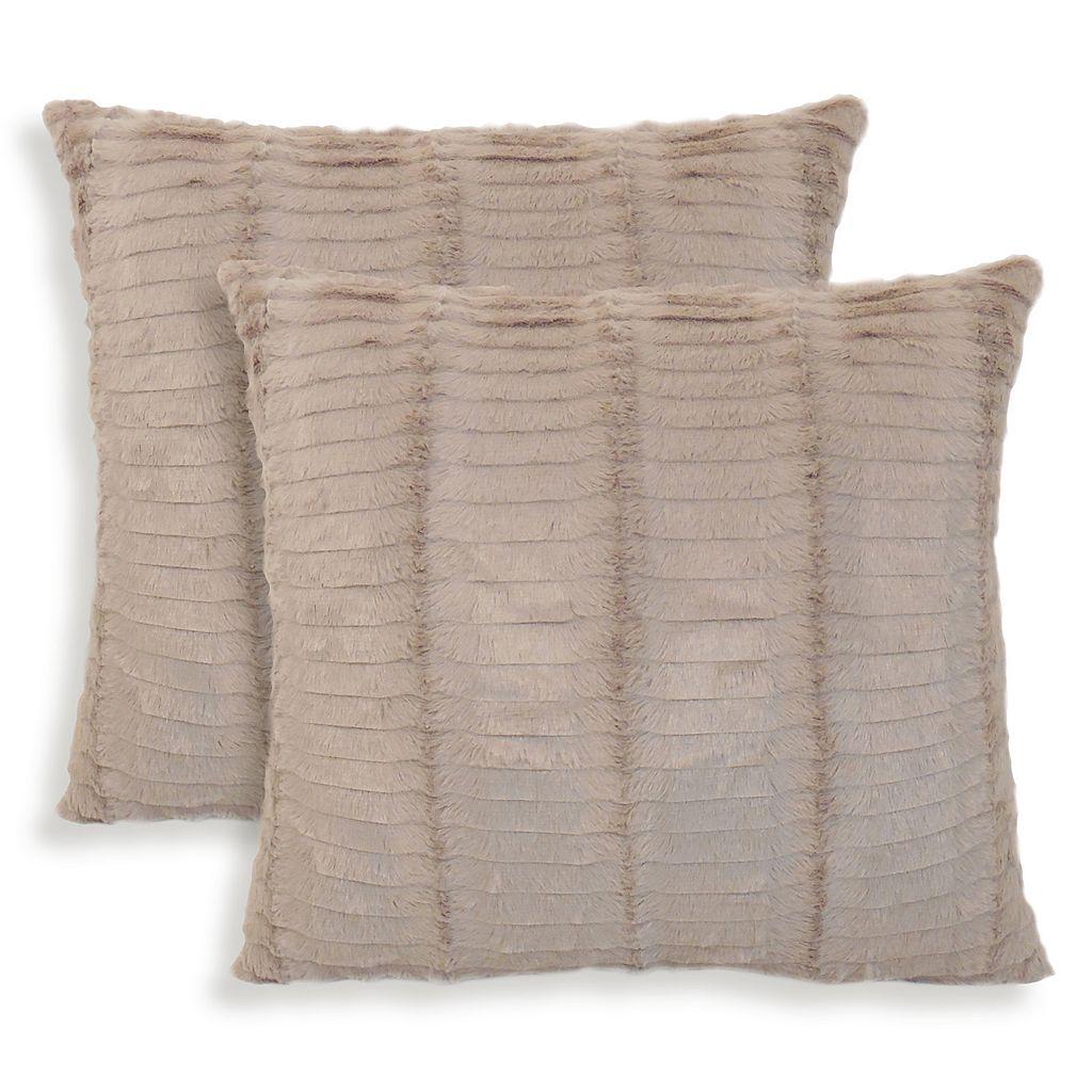 Oracle 2-piece Faux Fur Throw Pillow Set