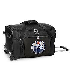 Denco Edmonton Oilers 22-Inch Wheeled Duffel Bag