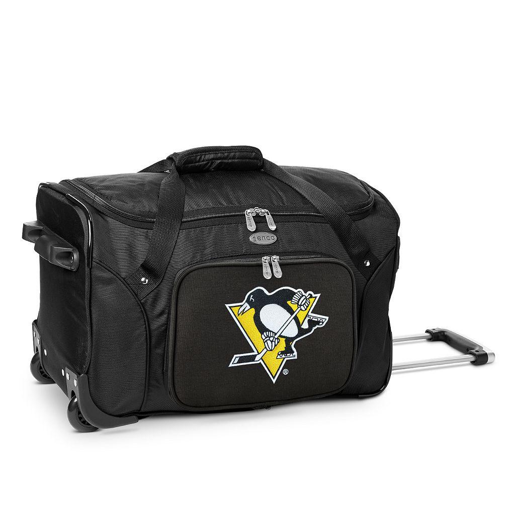Denco Pittsburgh Penguins 22-Inch Wheeled Duffel Bag