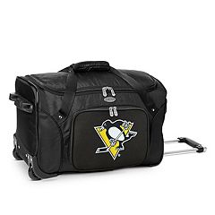 Denco Pittsburgh Penguins 22-Inch Wheeled Duffel Bag