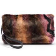 Juicy Couture Multi-Colored Faux-Fur Clutch