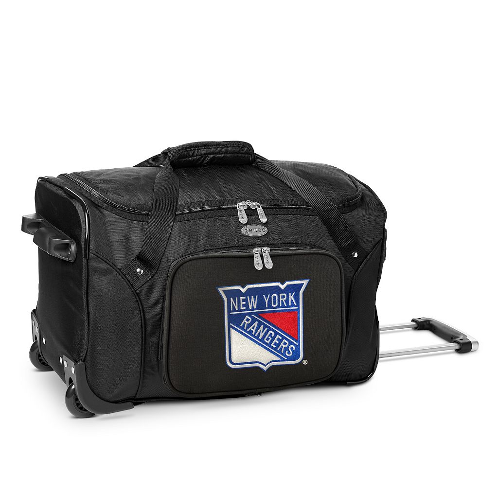 Denco New York Rangers 22-Inch Wheeled Duffel Bag