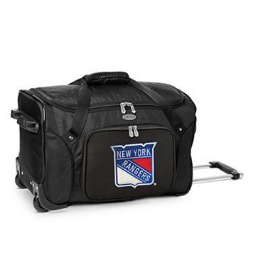 Denco New York Rangers 22-Inch Wheeled Duffel Bag