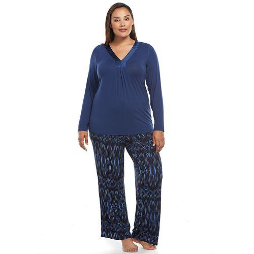 Plus Size Apt. 9® Pajamas  Magical Morning Satin-Trim Pajama Set 1611e8176