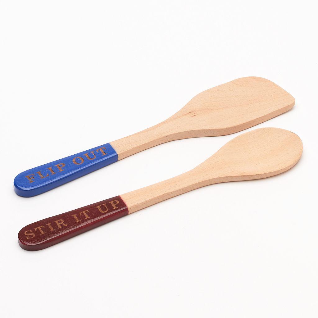 Food Network™ 2-pc. Wooden Utensil Set