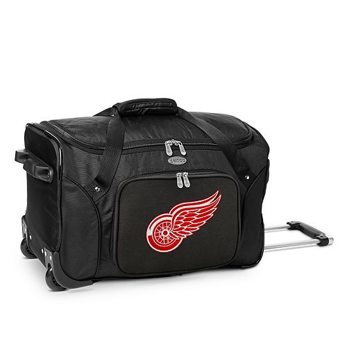 Denco Detroit Red Wings 22-Inch Wheeled Duffel Bag