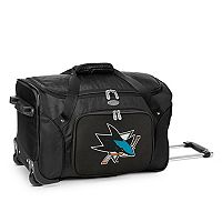 Denco San Jose Sharks 22-Inch Wheeled Duffel Bag