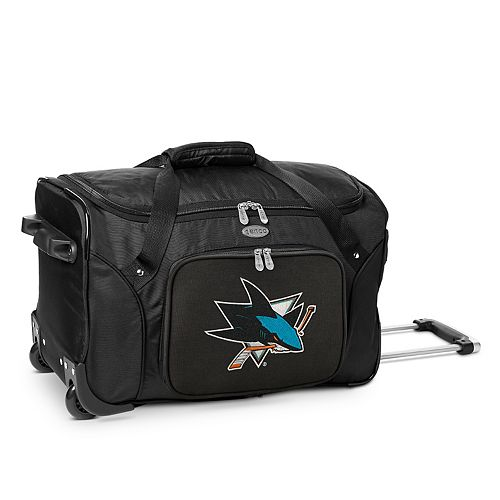 Denco San Jose Sharks 22-Inch Wheeled Duffel Bag
