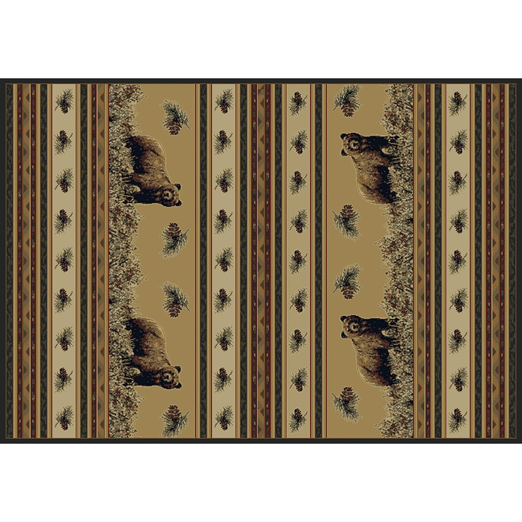 United Weavers Marshfield Pine Creek Bear Rug