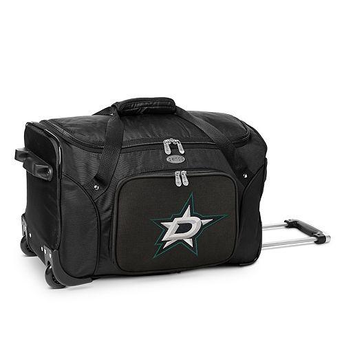Denco Dallas Stars 22-Inch Wheeled Duffel Bag