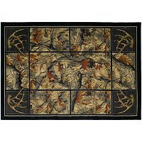 United Weavers Hautman Antler's Camo Rug