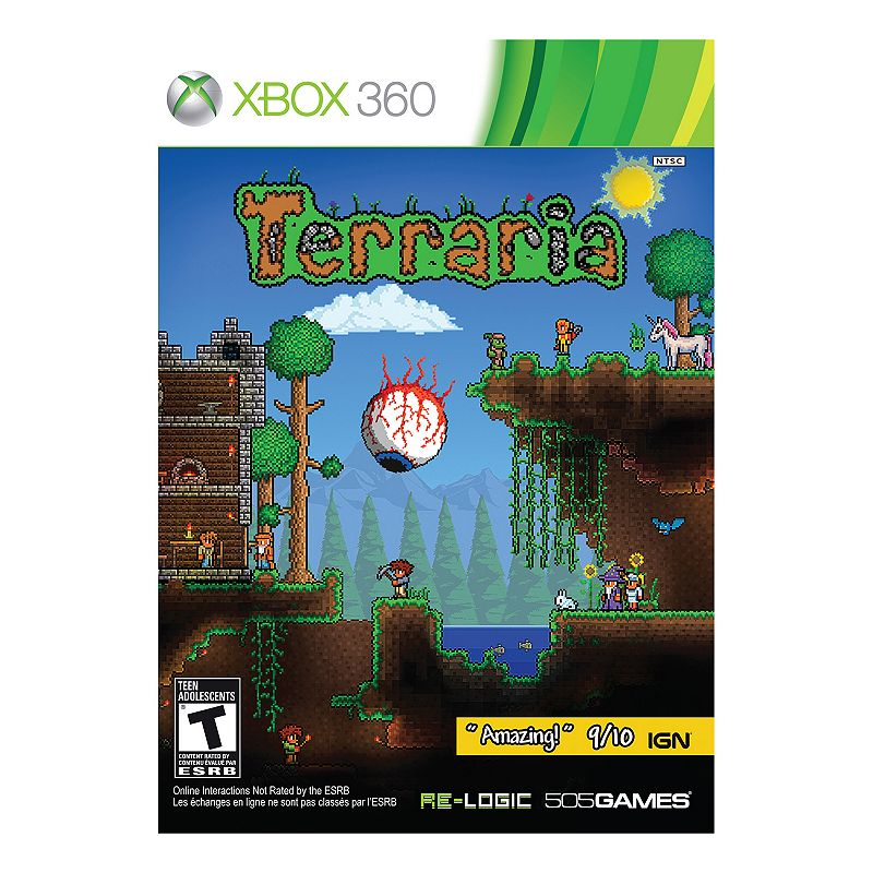 Terraria for Xbox 360, Multicolor Welcome to Terraria! Explore vast worlds with your friends and build new civilizations while fighting hundreds of twisted foes, magical creatures and mighty final bosses. Expansive sandbox allows you to build, dig, explore and battle. Retro 2D presentation adds a nostalgic touch. Platform: Xbox 360 Rating: T for Teen. Learn more here.For information about the modified return policy, please click here Genre: action adventure, sandbox Model no. 812872018287 Size: One Size. Color: Multicolor.