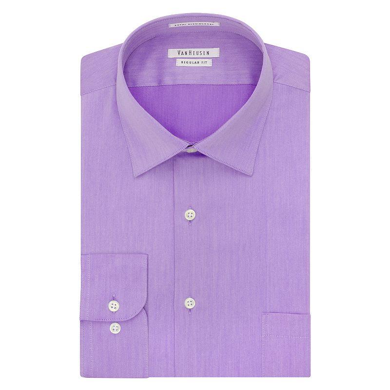 Big tall van heusen regular fit herringbone spread for Van heusen men s regular fit pincord dress shirt