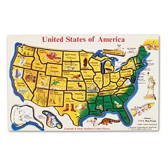 Melissa & Doug Wooden USA Map