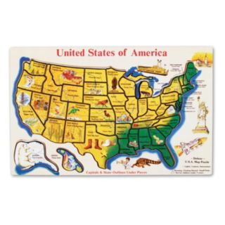 Melissa & Doug Wooden USA Map
